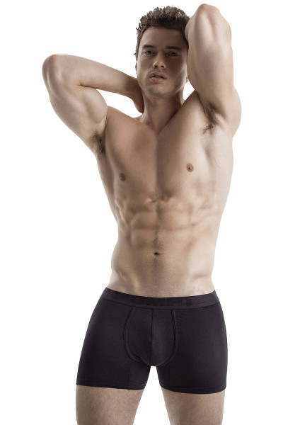 Black - PUMP! Cooldown Boxer 11066 - Model View - Topdrawers Underwear for Men