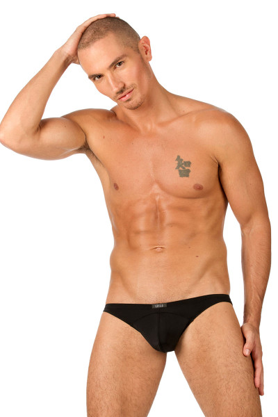 Black - Gregg Homme Wonder Brief 96103 - Front View - Topdrawers Underwear for Men