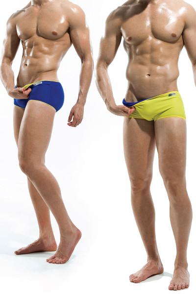 f5778412f1 Blue/Yellow - Modus Vivendi Double Face Reversible Swim Boxer S1622 - Model  View ...
