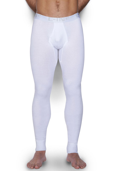 100 White - C-IN2 Core Long Underwear 4038 - Front View - Topdrawers Underwear for Men