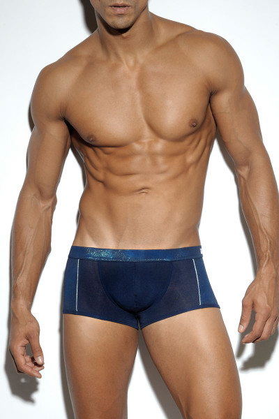09 Navy - ES Collection Pixel Boxer UN200 - Front View - Topdrawers Underwear for Men