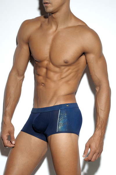09 Navy - ES Collection Pixel Boxer UN200 - Side View - Topdrawers Underwear for Men