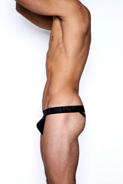 001 Black - C-IN2 Core Y-Back Thong 4002 -  Side View - Topdrawers Underwear for Men