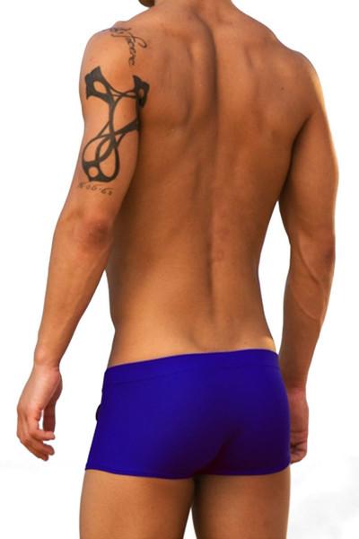 da80d850d9 ... Blue - Modus Vivendi Zipper Swim Boxer S1322 - Rear View - Topdrawers  Swimwear for Men
