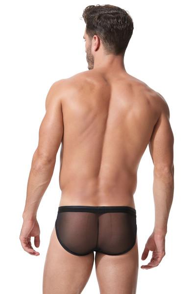 Black - Gregg Homme Century Brief 152303 - Rear View - Topdrawers Underwear for Men