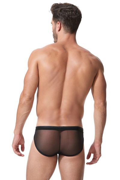 Black - Gregg Homme Century Brief 152303 - Rear View - Topdrawers Underwear for Men