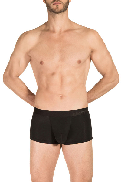1A Black - Obviously PrimeMan Trunk A03 - Front View - Topdrawers Underwear for Men