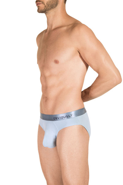 1E Ice - Obviously PrimeMan Brief A02 - Side View - Topdrawers Underwear for Men