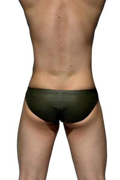 V1GN Vinyl Green - Private Structure Desire Glaze Bikini DGEMU3553BT - Rear View - Topdrawers Underwear for Men
