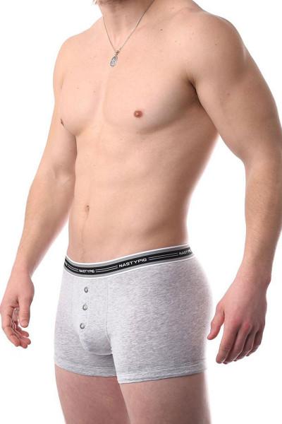 Light Heather - Nasty Pig Boxer Brief 5550 - Side View - Topdrawers Underwear for Men