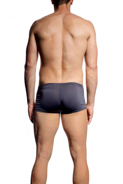 075 Charcoal - JM SKINZ Low Rise Pouch Boxer 88194 - Rear View - Topdrawers Underwear for Men