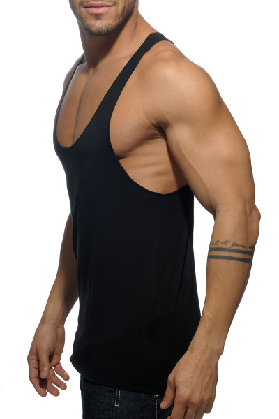 cf1f0064abe9b2 ... 10 Black - Addicted Back Logo Tank Top AD340 - Side View - Topdrawers  Menswear