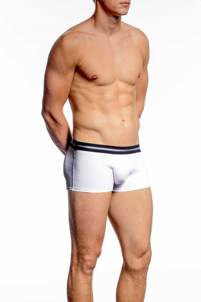 002 White - JM ACTION Low Rise Pouch Boxer 59094 - Front View - Topdrawers Underwear for Men