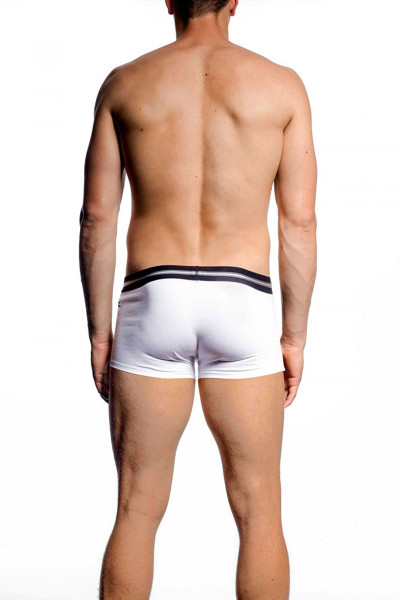 002 White - JM ACTION Low Rise Pouch Boxer 59094 - Rear View - Topdrawers Underwear for Men