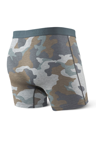 GSC Grey Supersize Camo  - Saxx Vibe Boxer Brief Modern Fit SXBM35 -  Rear View - Topdrawers Underwear for Men
