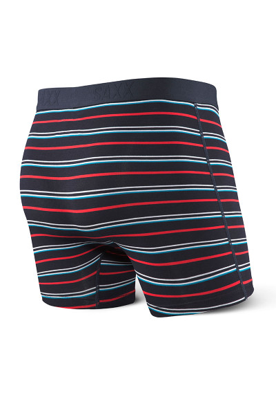 ICS Dark Ink Coast Stripe  - Saxx Vibe Boxer Brief Modern Fit SXBM35 -  Rear View - Topdrawers Underwear for Men