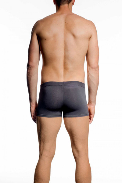 075 Charcoal - JM Athletix Pouch Boxer 04047 - Rear View - Topdrawers Underwear for Men