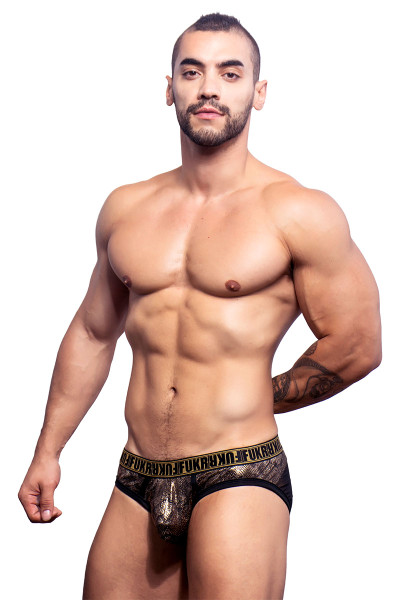 Andrew Christian FUKR Python Brief w/ Gigolo Mesh 90744 - Side View - Topdrawers Underwear for Men