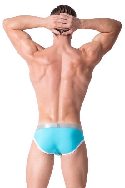 Aqua - Private Structure Spectrum X Contour Brief SXUZ3683 - Rear View - Topdrawers Underwear for Men