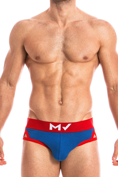 Blue - Modus Vivendi Otter Brief 11813 - Front View - Topdrawers Underwear for Men