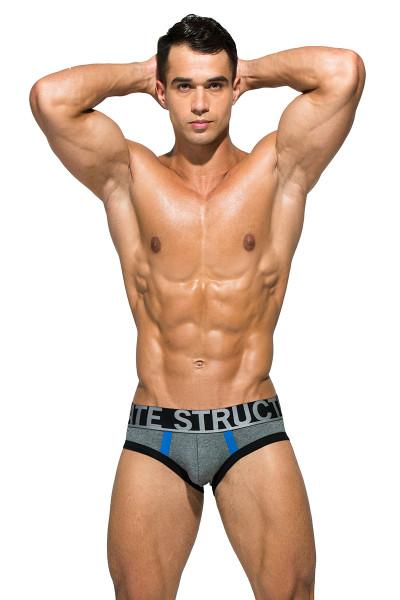 Dark Melange - Private Structure BeFit Athlete Mini Brief BATMU1915BT - Front View - Topdrawers Underwear for Men