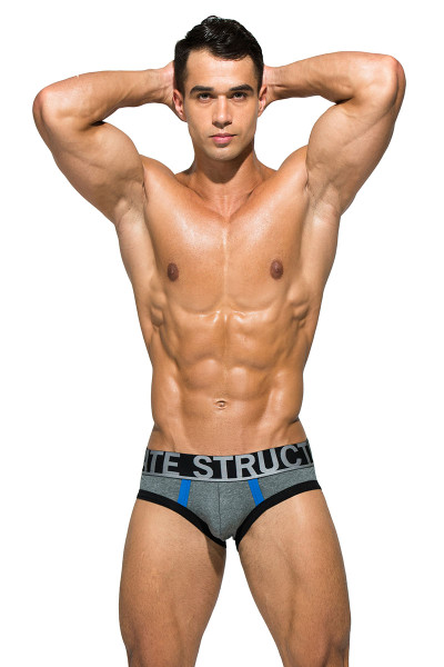 Dark Melange - Private Structure BeFit Athlete Mini Brief BATMU1915BT - Front View - Topdrawers Underwear for Men