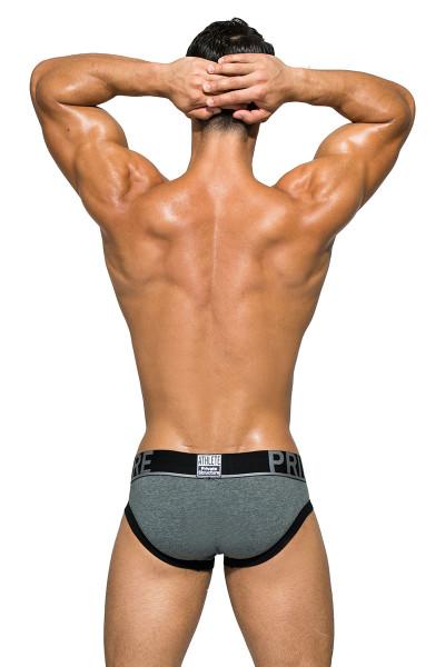 Dark Melange - Private Structure BeFit Athlete Mini Brief BATMU1915BT - Rear View - Topdrawers Underwear for Men