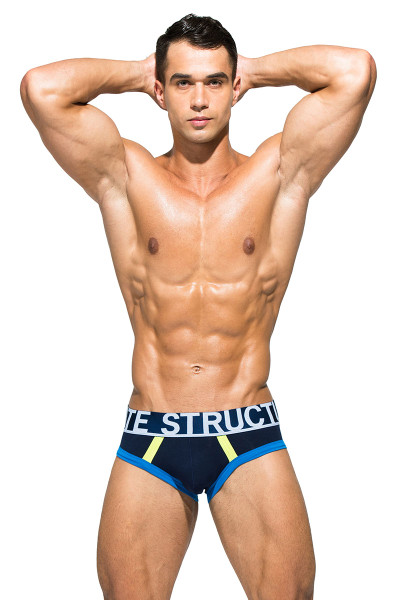 Dress Blue - Private Structure BeFit Athlete Mini Brief BATMU1915BT - Front View - Topdrawers Underwear for Men