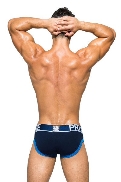 Dress Blue - Private Structure BeFit Athlete Mini Brief BATMU1915BT - Rear View - Topdrawers Underwear for Men