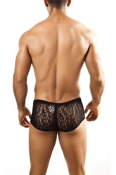 Black Lace - Joe Snyder Bulge Boxer JSBUL-03 - Rear View - Topdrawers Underwear for Men