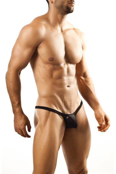 Black - Joe Snyder Bulge Thong JSBUL-02 - Front View - Topdrawers Underwear for Men