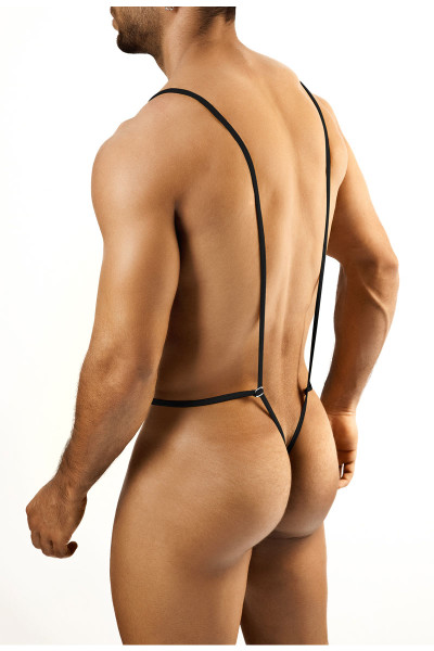 Black - Joe Snyder Body String JS27 - Rear View - Topdrawers Underwear for Men