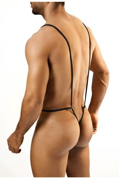 Black - Joe Snyder Body String JS27 - Rear View - Topdrawers Underwear for Men