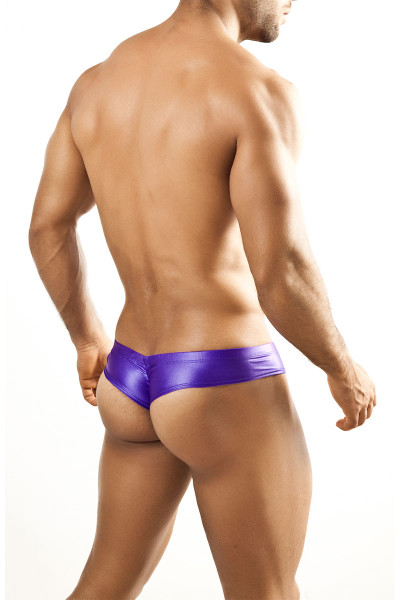 Purple - Joe Snyder Mini Cheek Thong JS22 - Rear View - Topdrawers Underwear for Men