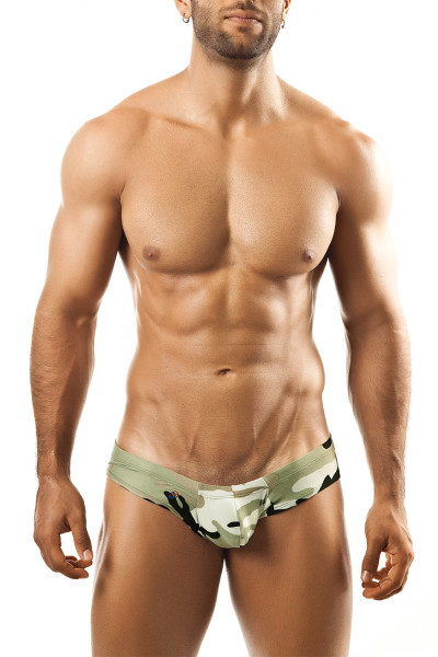 Camouflage Print - Joe Snyder Mini Cheek Thong JS22 - Front View - Topdrawers Underwear for Men