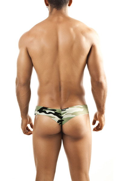 Camouflage Print - Joe Snyder Mini Cheek Thong JS22 - Rear View - Topdrawers Underwear for Men
