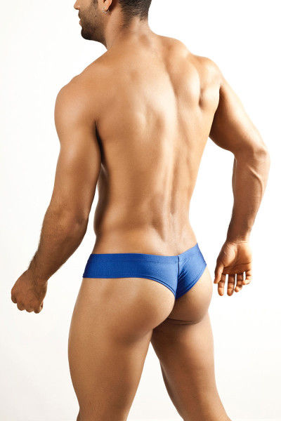 Royal Blue - Joe Snyder Mini Cheek Thong JS22 - Rear View - Topdrawers Underwear for Men
