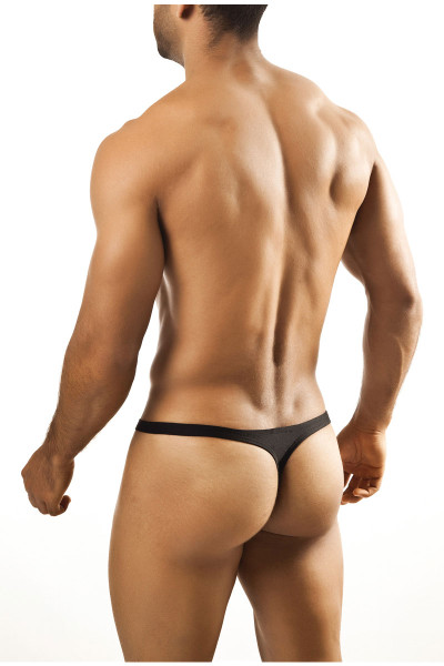 Black - Joe Snyder Thong JS03 - Rear View - Topdrawers Underwear for Men