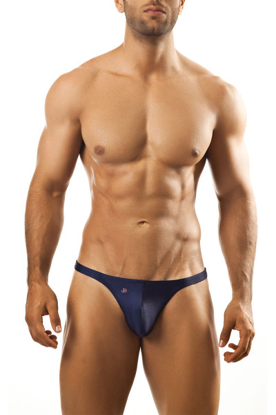 Navy Blue - Joe Snyder Thong JS03 - Front View - Topdrawers Underwear for Men
