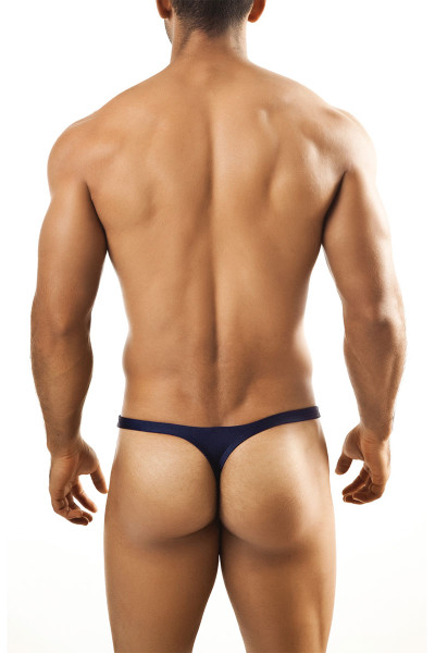 Navy Blue - Joe Snyder Thong JS03 - Rear View - Topdrawers Underwear for Men