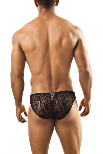 Black Lace - Joe Snyder Bikini Brief JS01 - Rear View - Topdrawers Underwear for Men