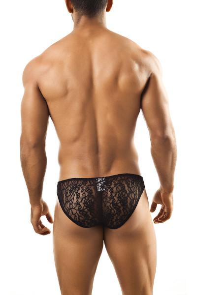 Black Lace - Joe Snyder Bikini Brief JS01 - Rear View - Topdrawers Underwear for Men