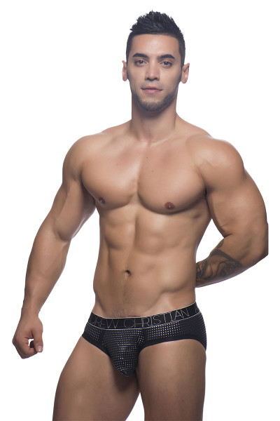 Andrew Christian Glam Brief w/ Almost Naked 90869 - Front View - Topdrawers Underwear for Men