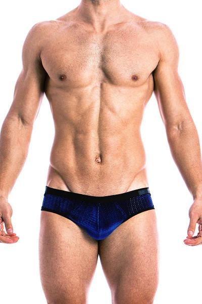 Modus Vivendi Jock Brief 17812 Blue - Front View - Topdrawers Underwear for Men