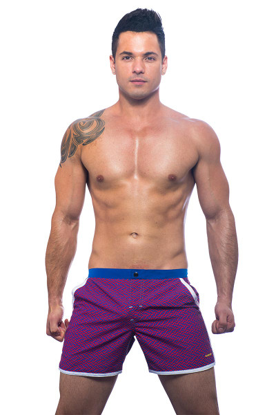 Andrew Christian Black Collection Alexander Swim Shorts 7652 - Swim Shorts -  Front View - Topdrawers Underwear for Men