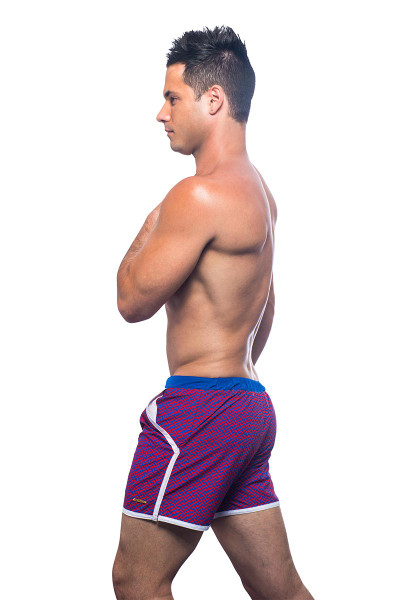 Andrew Christian Black Collection Alexander Swim Shorts 7652 - Swim Shorts -  Side View - Topdrawers Underwear for Men