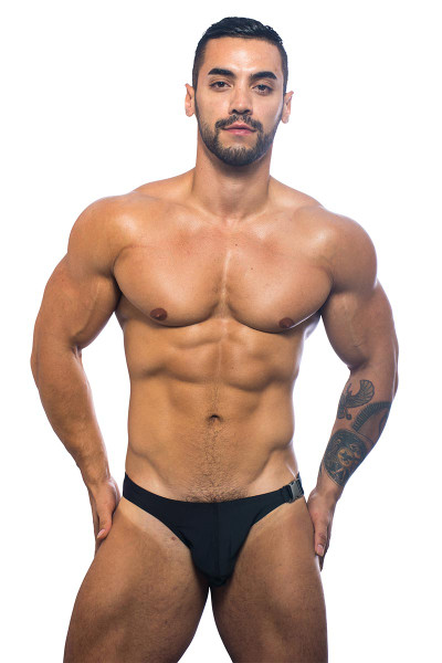 Andrew Christian Buckle Swim Bikini 7637-BL - Swim Bikini -  Front View - Topdrawers Underwear for Men
