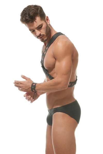 Gregg Homme Charnel X Chest Harness 162561 - Side View - Topdrawers Underwear for Men