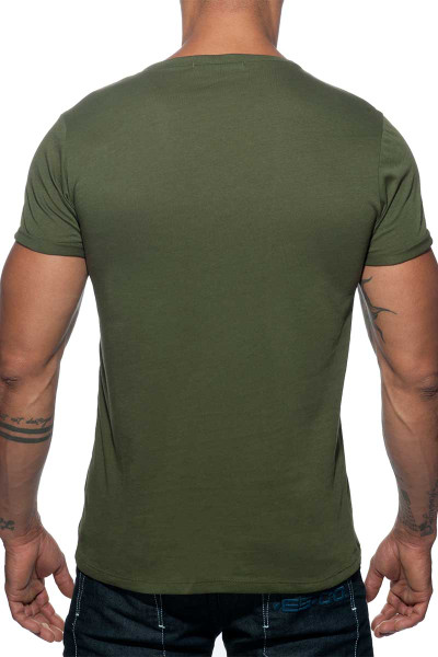 5c049fbfbb7644 ... Addicted Military T-Shirt AD610-12 Khaki - Men T-Shirts - Rear