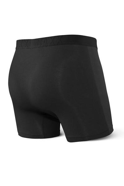 Saxx Vibe Boxer Brief Modern Fit SXBM35-BBB Black/Black - Mens Boxer Briefs - Rear View - Topdrawers Underwear for Men